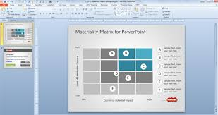free simple materiality matrix template for powerpoint free