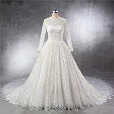 lace wedding dress with sleeves royal gown keyhole back sleeve vintage lace wedding