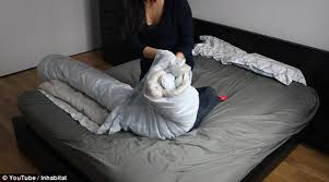 Her Side His Side Comforter Woman Reveals How The Simple U0027burrito Roll U0027 Method Will Make The
