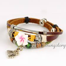 wrap bracelet with charms images Butterfly leather bracelets wholesale leather wrap bracelet charm jpg