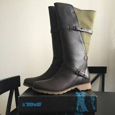 womens boots teva 67 teva shoes teva de la vina high waterproof leather boot