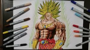 drawing broly legendary super saiyan dragon ball