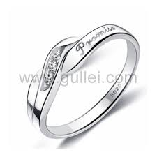 Wedding Rings For Her by Engravable Designer Promise Ring For Her Cubic Zirconia