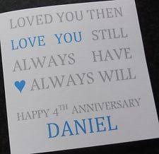 stunning personalised on our pearl wedding anniversary card