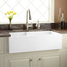 40 Inch Kitchen Sink 36 Risinger 60 40 Offset Bowl Fireclay Farmhouse Sink Smooth