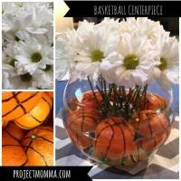 basketball centerpieces march madness arrangement project momma