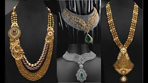 wedding necklace designs gold and diamond indian wedding necklace designs