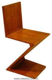chaise zig zag chaise zig zag inspiration de stijl par gerrit avec