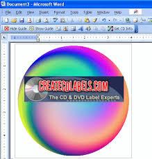 screenshots of creating beautiful professional looking cd dvd label