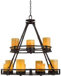 faux candle light fixtures get the deal sunset onyx stone 12 light faux candle chandelier