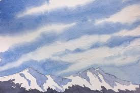 how to paint wispy cirrus clouds watercolor painting