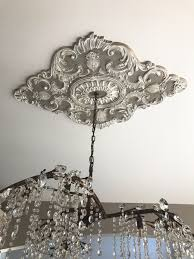Light Fixture Ceiling Medallion by Beautiful Ekena Millwork Ceiling Medallion With A Chandelier