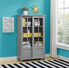 Glass Door Cabinet Walmart Costco Bookcase With Glass Doors And Drawers Walmart Curio Display