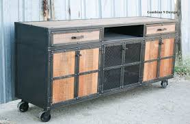Reclaimed Wood Buffet Table by Reclaimed Wood Media Console Rustic Credenza Vintage Industrial