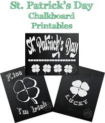 st patrick u0027s day chalkboard printables the diy village