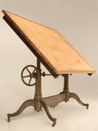 Mayline Oak Drafting Table Antique American Drafting Or Drawing Table By Columbia Http Www