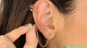 ear clasp how to wear an ear cuff 15 steps with pictures wikihow