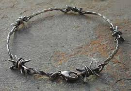 silver bracelet wire images Silver barbed wire bracelet love2have in the uk jpg