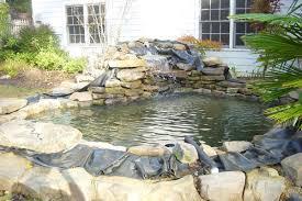 Backyard Pond Building Backyard Pond Ideas Furnish Burnish