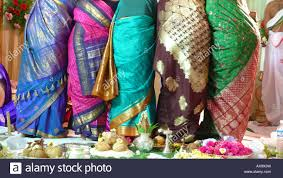 indian wedding gifts for guests at indian wedding ceremony give gifts stock photo 16776972