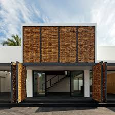 ars clads live work dwelling in mexico with woven timber