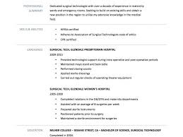 Nail Tech Resume Sample Surgical Tech Resume Samples Resume Samples And Resume Help