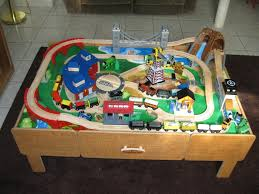 thomas the train wooden track table toys r us train table with roundhouse wooden set wooden designs