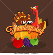 happy thanksgiving day concept turkey stock vector 704165596