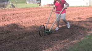 Walk Behind Seed Planter by Planting Mustard Greens Hoss Planter April 2012 Youtube