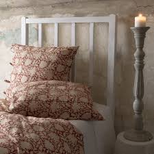 Traditional Bedding Rebecca Red Duvet Cover Les Indiennes