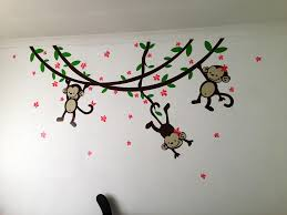 nursery monkey wall decals ideas image baby girl monkey wall decals