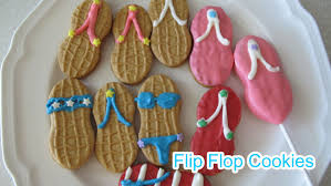how to make flip flop sandal cookies nutter butter