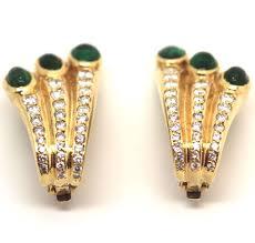emerald earrings uk emerald and diamond earring antique jewellery uk antique