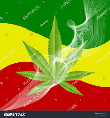 Rasta Flags Green Medical Marijuana Leaf Smoke Rasta Stock Vector 414864151