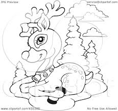 rudolph the red nosed reindeer face coloring pages