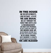 disney quotes love family in this house we do disney wall decal disney quotes wall