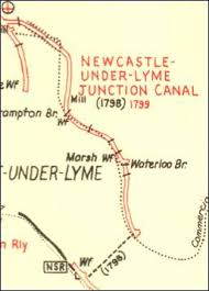 map of newcastle lyme newcastle lyme junction canal route