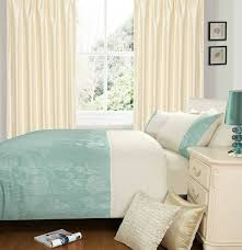 Duck Egg And Gold Curtains Duck Egg U0026 Cream Colour Stylish Duvet Cover Luxury Beautiful