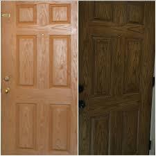 fiber glass door fiberglass door in antique walnut gel stain general finishes