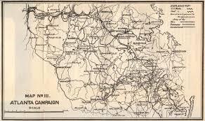 Maps Of Atlanta by General Sherman U0027s Atlanta Campaign