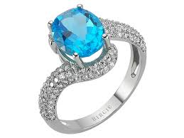 topaz gemstone rings images Diamond and oval blue topaz stone ring 117r0112 birgie diamonds jpg