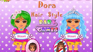 dora hair style and make up and dress up game online for free dora