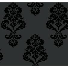 modern wallpaper in silver design by york wallcoverings york wallcoverings graphic damask wallpaper bl0397 the home depot