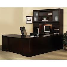 U Shaped Desks Mayline Sorrento Left Handed Bow Front U Shaped Desk 2 Pencil