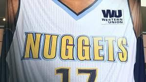 Western Union To Advertise On Nuggets Jerseys Fox31 Denver Bureau Western Union