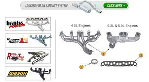 jeep grand performance parts jeep grand zj jeep exhaust header parts morris 4x4 center