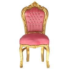 Esszimmerstuhl Vintage Edler Barock Stuhl Rosa Gold Mit Strass Steinen Glitzer Stuhl Vintage
