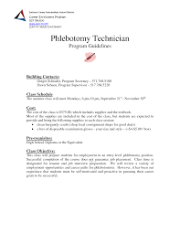 Entry Level Phlebotomist Cover Letter phlebotomist cover letter phlebotomist objective resume sle