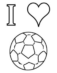 I Love Soccer Coloring Pages Boys Coloring Pages Football Soccer Coloring Page