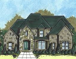 european house plan with elegant roof line 13527by